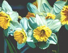 daffodil painting