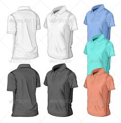 Men's Short Sleeve Polo-Shirt Design Templates