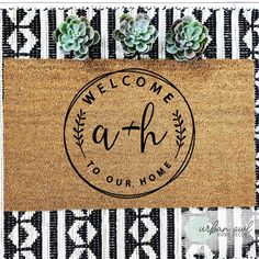 Urban Owl doormats are great for gift-giving and they flawlessly compliment any front door! Front Door Mats, Front Door Decor, Porch Mat, Front Porch, Door Rugs, Circuit Projects, Diy Projects, Personalized Door Mats, Welcome Mats