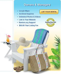 Vacation Rentals | Beach Homes | Vacation Homes, Cottages, Cabins and Inns Rented By Owner