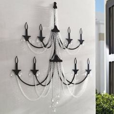 Beaded Two-tier Wall Chandelier | Fresh & Fab Outdoor Pad