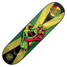 Board Santa Cruz Skateboards Rasta Hand Jammin deck 7.8 pouces 70€ #santacruz #screaminghand #santacruzscreaminghand #rasta #jamaique #jamaica #surf #oldschool #vintage #skate #skateboard #skateboarding #streetshop #skateshop @PLAY Skateshop