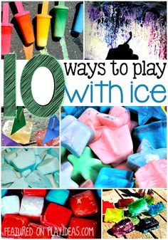 Help your kids beat the heat with these fun ways to play with ice!