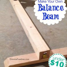 Make Your Own Balance Beam Gifts Pinterest Beams Gymnastics And Diy