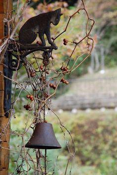 Witch Cottage: with bell. Witch Cottage: with bell. Witch Cottage: with bell. Witch Cottage: with bell. Witch Cottage: with bell. Witch Cottage: with bell. Witch Cottage, Witch House, Dream Garden, Garden Art, Home And Garden, Cat Garden, Woodlands Cottage, Deco Nature, Garden Cottage