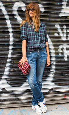 Boyish and beautiful, Caroline de Maigret at London Fashion Week #lfw, SS14. #Musestyle