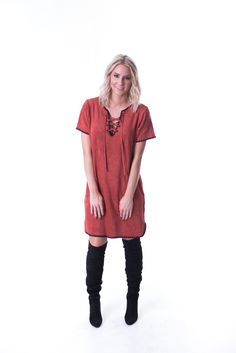 Shop the Rust Me Up dress from britainandbrooks.com