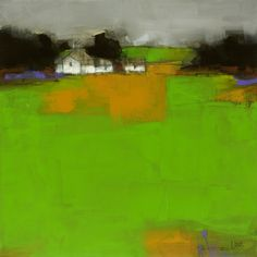 """County Green"" artwork by Australian artist, Roger Lane, now available as fine art reproductions - http://www.artreproductions.com.au/gallery.php?artid=2302"