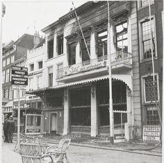 Café-restaurant 't Zuid is uitgebrand Datering van 23-05-1967 Grote Markt.