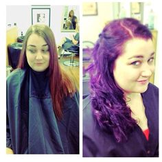 Purple hair and cut I created on my client!