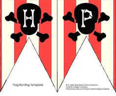 Bunting {HAPPY} Printable: Modern Pirate Party {INSTANT DOWNLOAD} Dunham Design Company