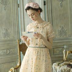 Vestidos Vintage, Vintage Dresses, Vintage Outfits, Vintage Fashion, Modest Dresses, Cheap Dresses, Pretty Dresses, Cute Embroidery, Embroidery Dress