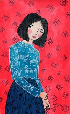 El bosque entintado: Ilustración de moda  Paula Hurtado Arenas  #fashion illustration #gouaches #watercolor illustration