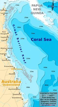 Coral Sea Map #KidsAroundtheWorld