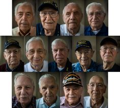 Picture of 13 of the survivors of the sinking of the USS Indianapolis