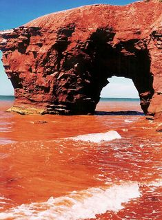 Seal Point Arch on Prince Edward Island East Coast Travel, Prince Edward Island, Natural Disasters, Nova Scotia, Caves, Arches, Lighthouse, Places To See, Natural Beauty