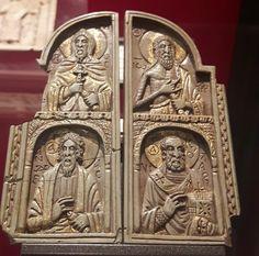 Museo di arte medievale di Bologna. Dittico con quattro busti di santi. XII sec.