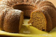 Pumpkin Spice Cake-  A box of white or yellow cake mix and one can of Pumpkin.  Mix together with 3/4 tsp of Pumpkin Pie Spice.  Bake in oven at 350 for 30 minutes.