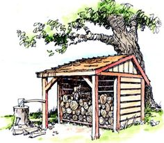 #shed #backyardshed #shedplans 8' x 8' Firewood Shed