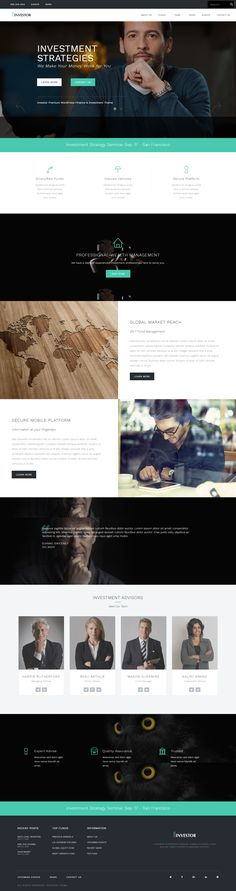Top Wordpress Themes, Maps Video, Event Template, Wealth Management, Investors, Icon Set, Web Design, Website, Modern