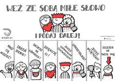 Miłe słowo dzień życzliwości Polish Language, Curious Facts, School Notes, Social Stories, Life Motivation, Art Therapy, In Kindergarten, Pre School, Kids And Parenting