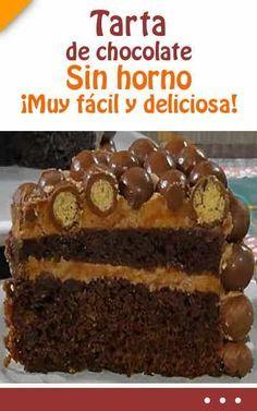 Tarta de chocolate. Sin horno. ¡Muy fácil y deliciosa! #tarta #chocolate #sinhorno