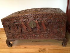 carved wooden trunks | Chinese Chest, hand carved camphor wood, 27 ...