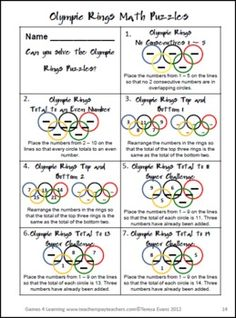 The Olympics may be coming to an end, but solving word problems never goes out of style. Try out these Olympic themed brain teasers!