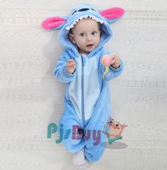 e70a8d37d Stitch Baby Boy & Girls Animal Cute Oneises Pajamas Costume