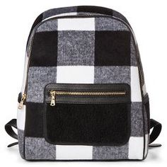 Adam Lippes for Target Shearling Backpack - Black & White Plaid