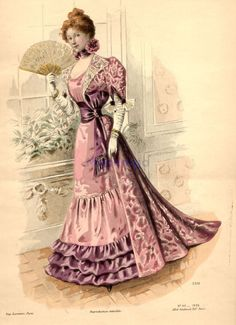 Evening dress, 1896 France