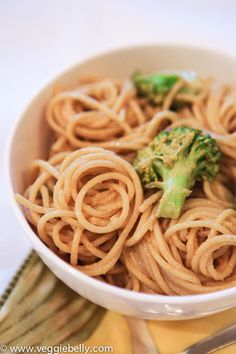 Stupidly Easy Peanut Noodles ~ Can you cook pasta? Do you know how to chop garlic? Yes? Then you're in business! This peanut noodles recipe is easy and fool proof! You can make it ahead of time and it will keep well in the fridge for up to two days. Plus, it tastes great warm or cold. This easy peanut noodles recipe is perfect for a quick dinner, packed lunch or picnic.