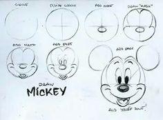 Apprendre A Dessiner Mickey Disney Pinterest Dessin Apprendre