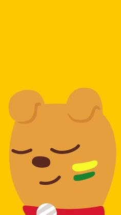 카카오프렌즈 브로도 Cute Lockscreens, Kakao Friends, Line Friends, Cute Wallpapers, Winnie The Pooh, Disney Characters, Fictional Characters, Singing, Character Design