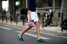 On the Streets of Paris Fashion Week Spring 2015 - Paris Fashion Week Spring 2015 Day 1