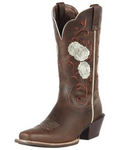 Ariat Women's Rosebud Cowgirl Boots - Distressed Brown-SR