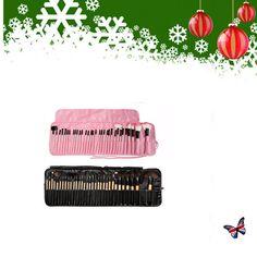 Hot 32 PCS Wood Makeup Brush Brushes Kit Professional Cosmetic Make Up Set Kit #Unbranded