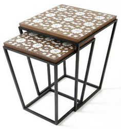 contemporary nesting table CONICAL G NADA DEBS