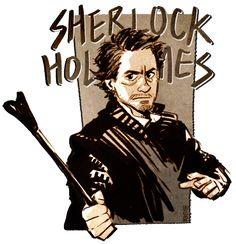 Sherlock Holmes (Robert Downey Jr.) - Sherlock Holmes - art by Hallpen
