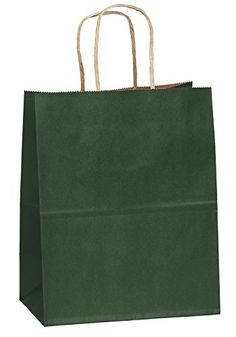 "8""x4.75""x10"" - 50 Pcs - Green Kraft Paper Bags, Shopping, Mechandise, Party, Gift Bags *** Check this awesome product by going to the link at the image."