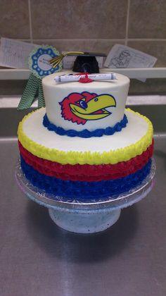KU University graduation cake