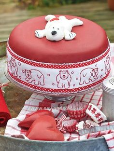 Buy Redwork Cake Band Sewing Pattern - DOWNLOAD ONLY Online at www.sewandso.co.uk