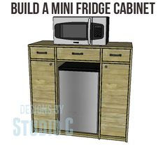 DIY Mini Fridge Cabinet Plans-Copy