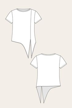 Selja Knot Tee - Named Source by pongenramok . - Selja Knot Tee – Named Source by pongenramok … - Fashion Sewing, Diy Fashion, Ideias Fashion, Fashion Outfits, Fashion Trends, Sewing Shirts, Sewing Clothes, Diy Clothes, Dress Sewing Patterns