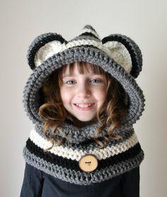 Procione cappello procione Hoodie procione di MegansMenagerie