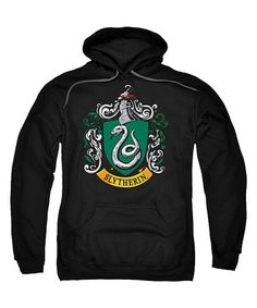 Another great find on #zulily! Black Slytherin Crest Pull-Over Hoodie - Men's Regular #zulilyfinds