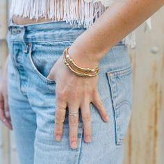 SUDDENLY SPRING BRACELET by Katie Dean Jewelry.
