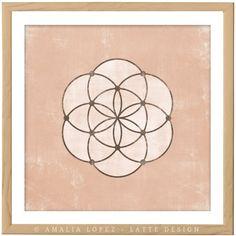 Circles 1. Rose quartz wall art Geometric art print Mid century... ($17) ❤ liked on Polyvore featuring home, home decor, wall art, geometric wall art, textured wall art and geometric home decor