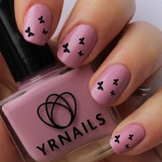 easy butterfly nail art - Google Search