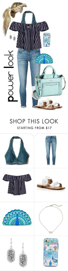 """""""Power Look"""" by mirandamf on Polyvore featuring Hollister Co., Current/Elliott, Jack Rogers, Kate Spade and Kendra Scott"""